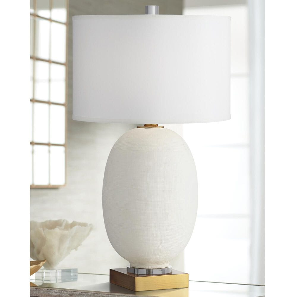 Pacific Coast Lighting Industrial Hilo Table Lamp in White, , large