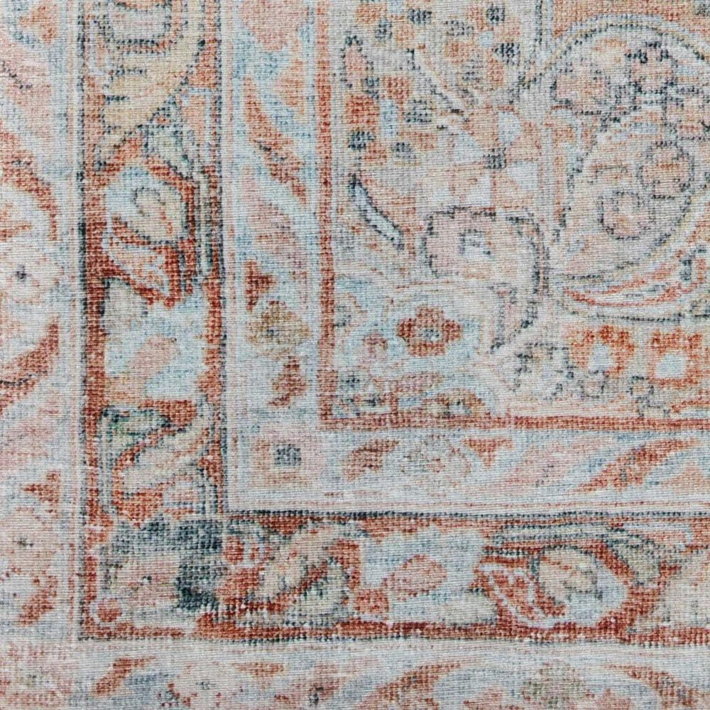 """Magnolia Home Lenna LEA-02 2'6"""" x 9'6"""" Ocean and Apricot Runner, , large"""