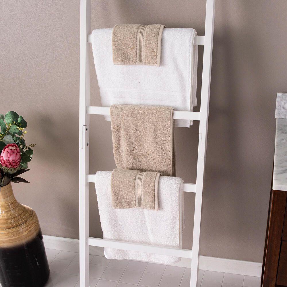 Southern Enterprises Blaindon Leaning Ladder Rack in White, , large