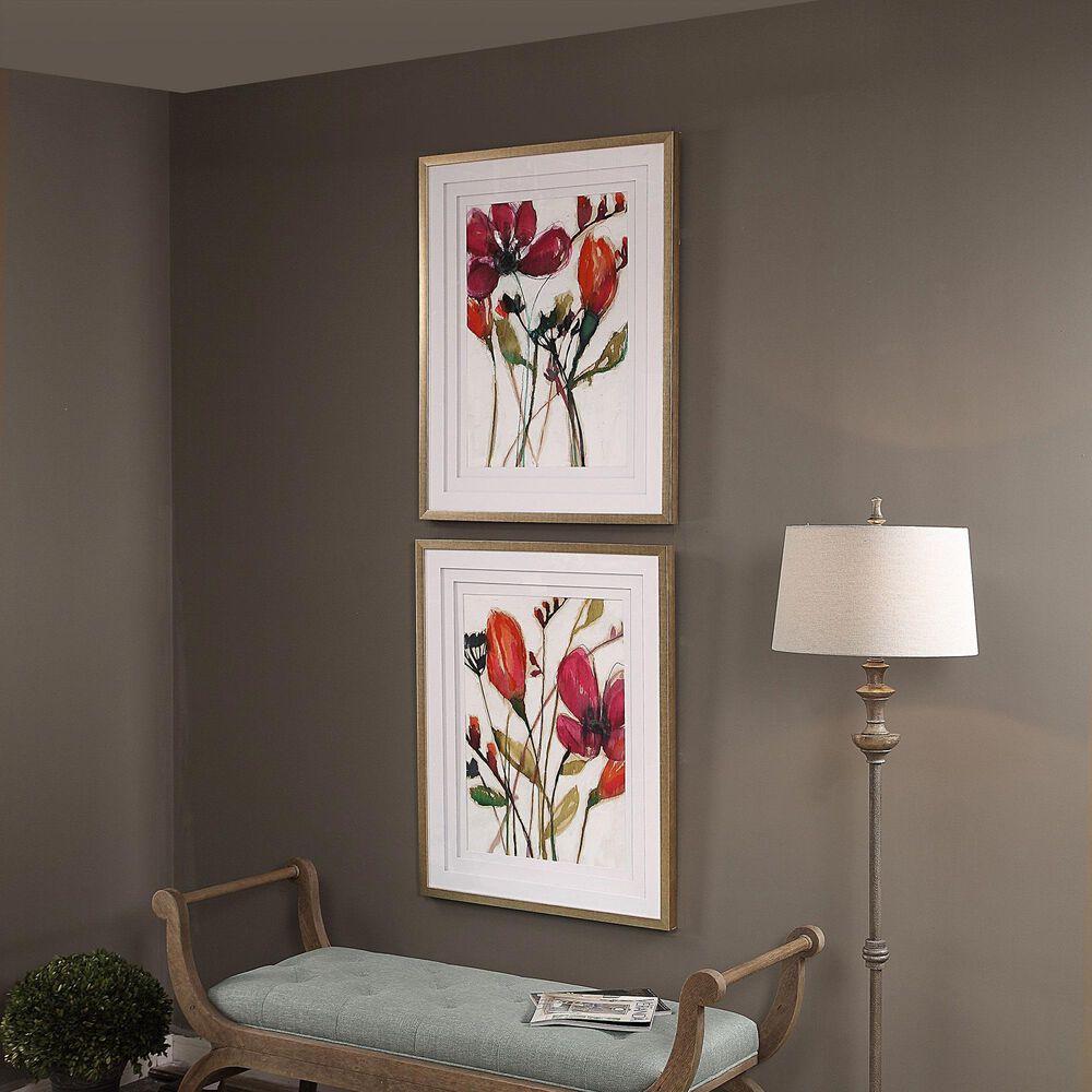 Uttermost Vivid Arrangement Floral Prints (Set of 2), , large