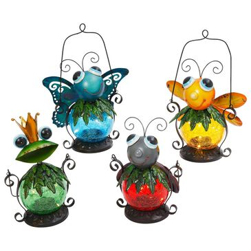 The Gerson Company Assorted Solar Hanging Critters (Set of 4), , large