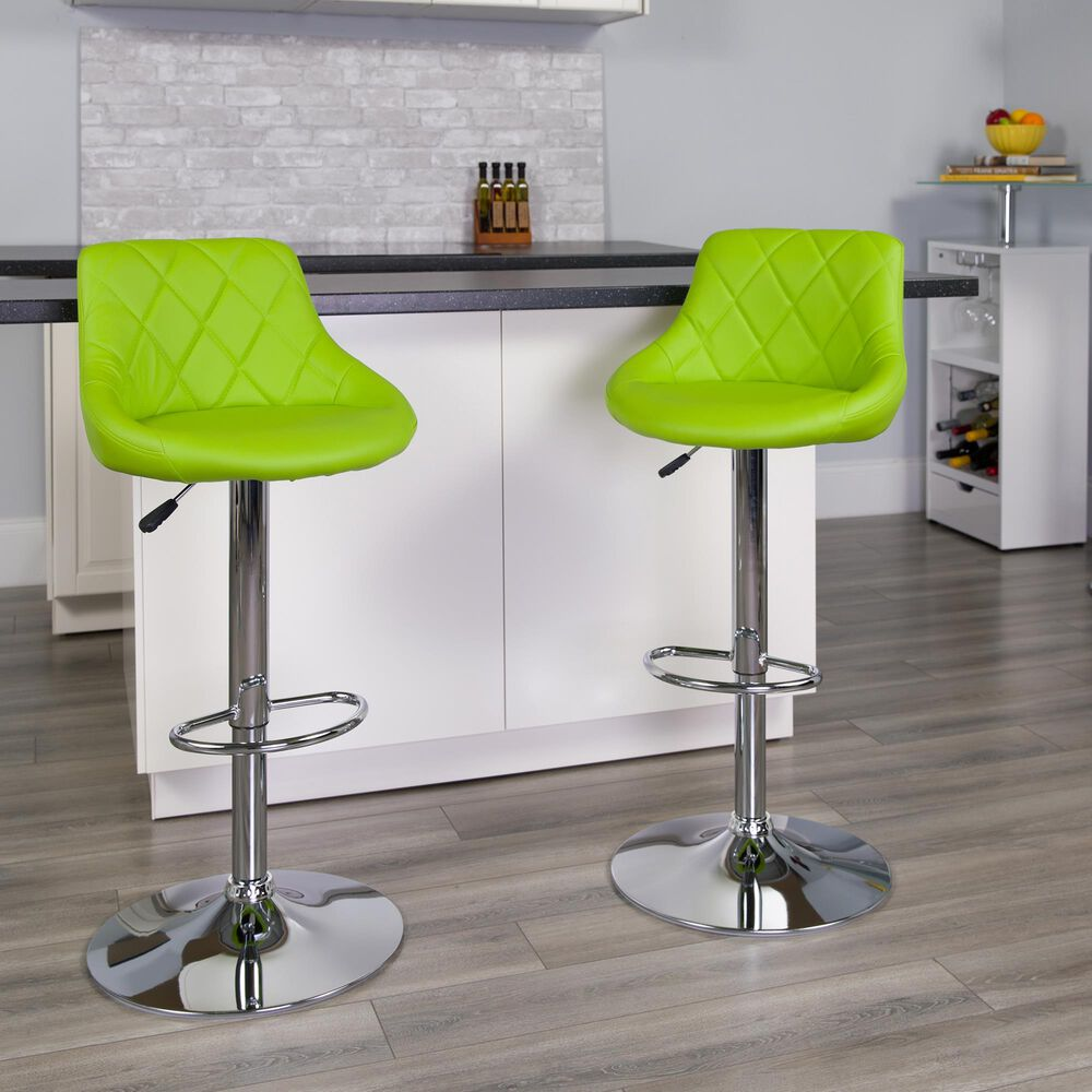 """Flash Furniture 41.75"""" Adjustable Height Barstool in Green, , large"""