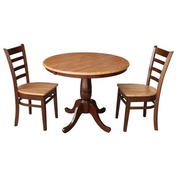 International Concepts Transitional 3-Piece Dining Set in Cinnamon and Espresso, , large