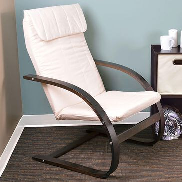 Regency Global Sourcing Niche Mia Reclining Chair in Mocha Walnut and Beige, , large