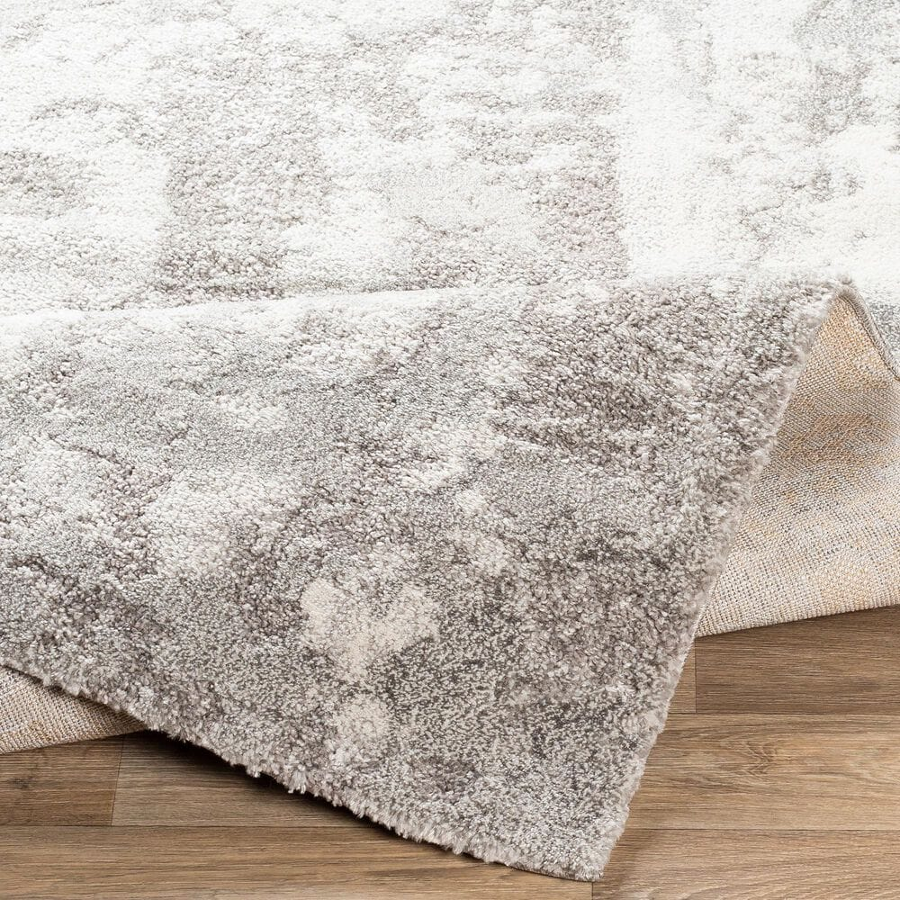 """Surya Venice VNE-2305 6'9"""" x 9'6"""" Ivory and Charcoal Area Rug, , large"""