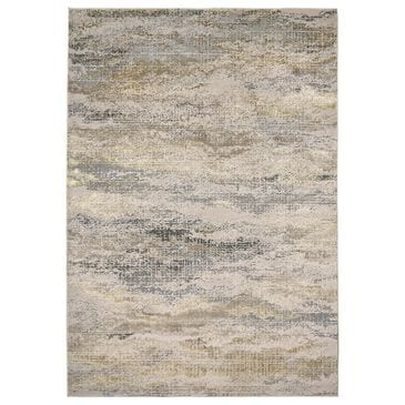 Feizy Rugs Aura 3735F 8' x 11' Gold and Gray Area Rug, , large