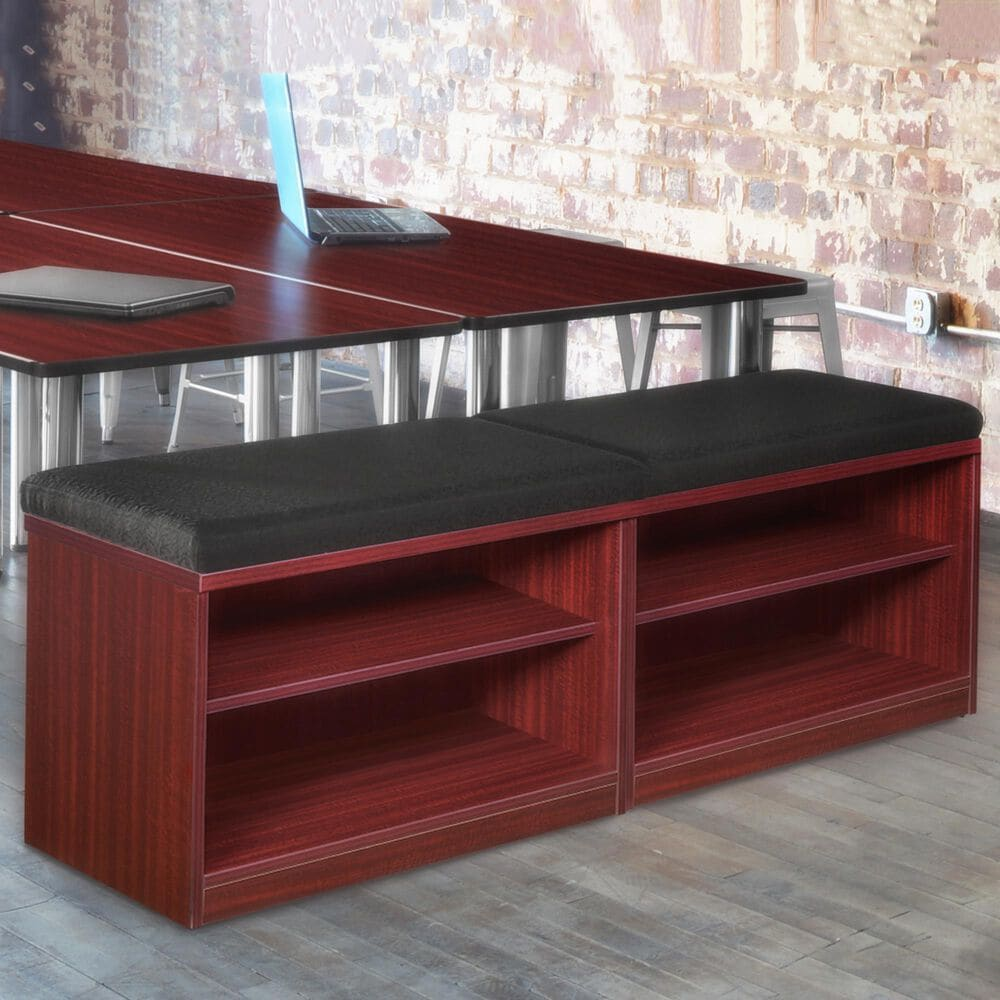 Regency Global Sourcing Legacy Double Open Shelf Low Credenza in Mahogany, , large