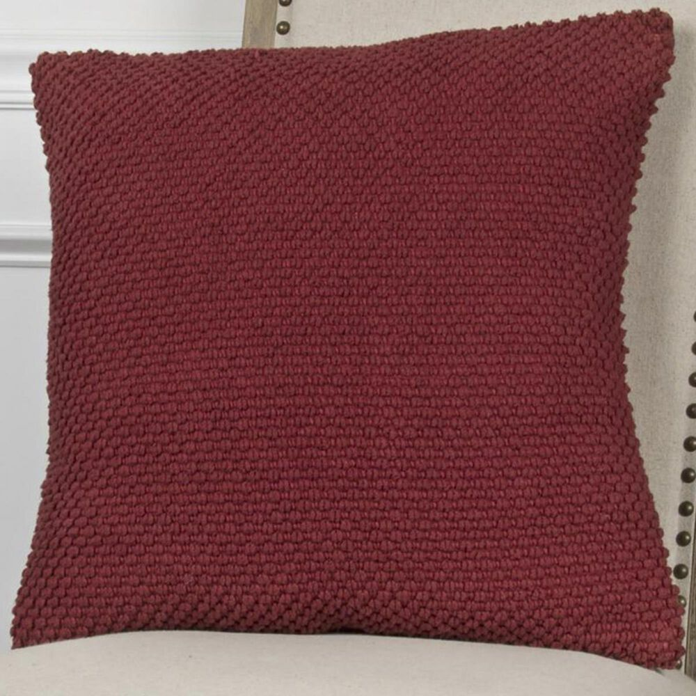 """Rizzy Home 20"""" x 20"""" Pillow Cover in Red, , large"""