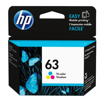 HP HP 63 Tri-Color Ink Cartridge, , large
