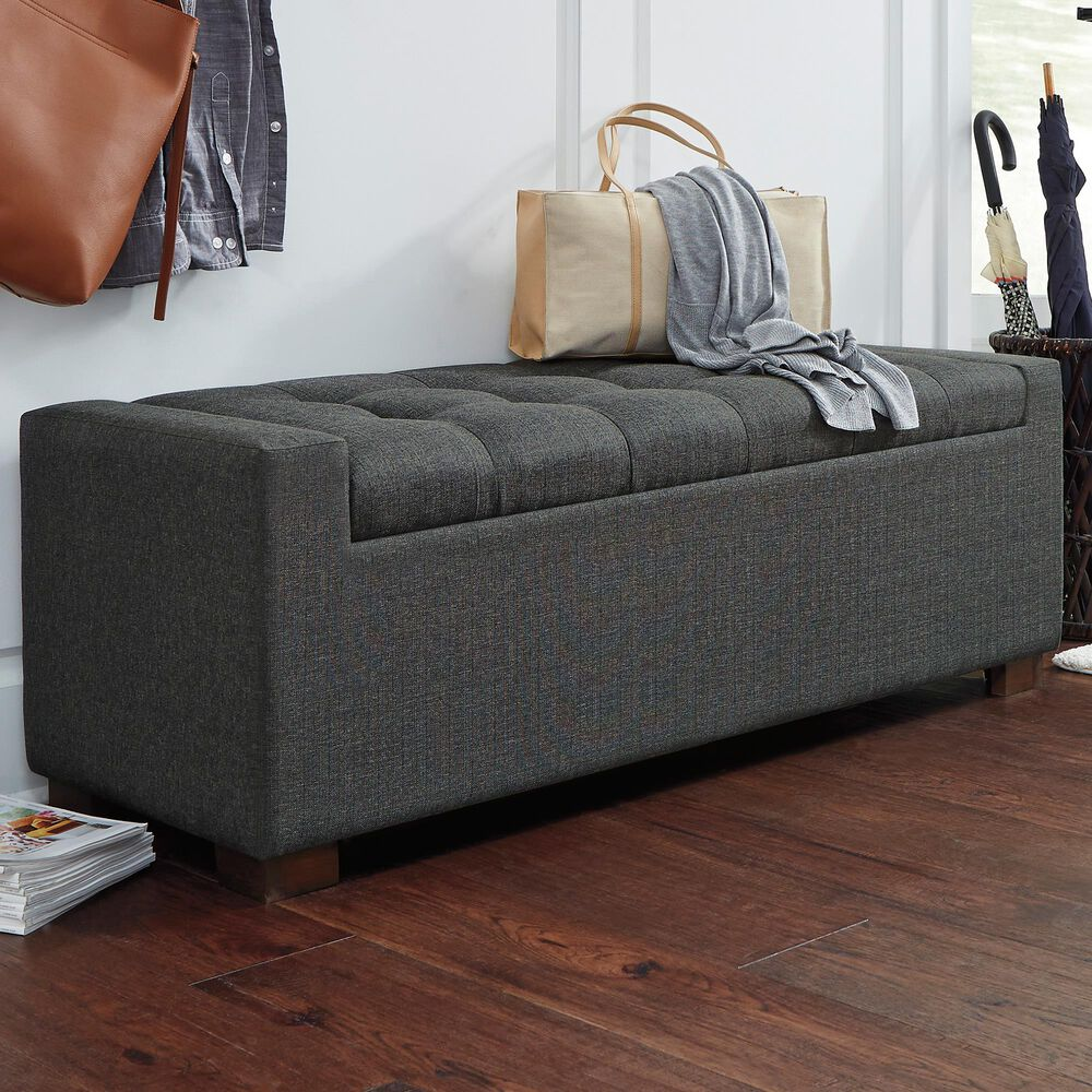 Signature Design by Ashley Cortwell Storage Bench in Gray, , large