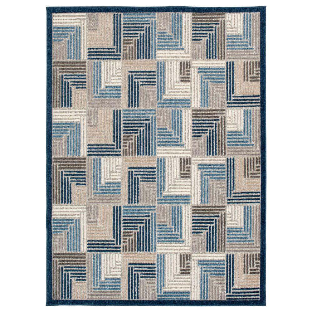 "Central Oriental Fontana Haldis 1654.61 7'10"" x 9'10"" Gray and Blue Area Rug, , large"