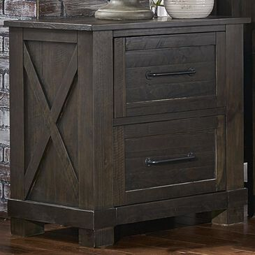 A-America Sun Valley 2 Drawer Nightstand with USB in Charcoal, , large