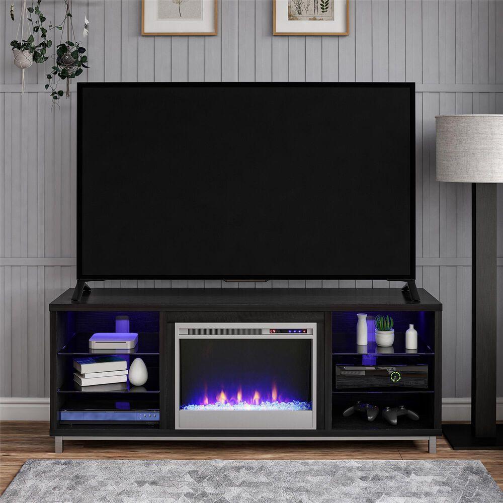 "DHP Lumina 65"" Fireplace TV Stand in Black Oak, , large"