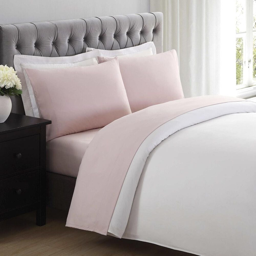 Pem America Truly Soft Everyday 4-Piece Full Sheet Set in Blush, , large