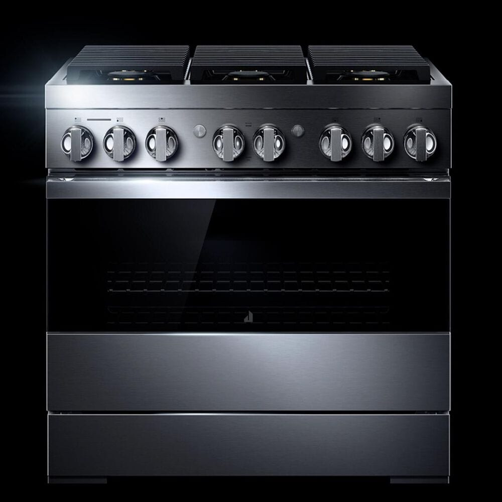"Jenn-Air Noir 36"" Dual-Fuel Professional Range in Stainless Steel, , large"