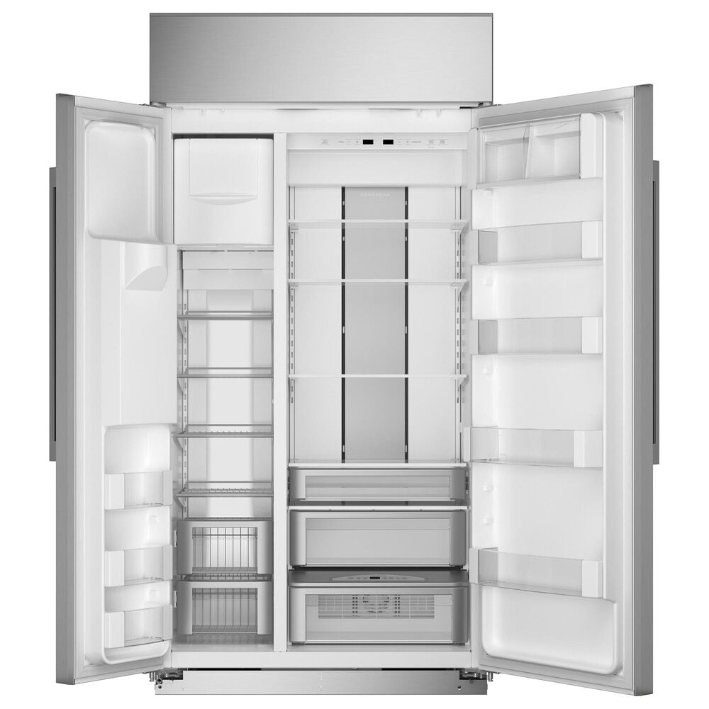 """Monogram 42"""" Smart Built-In Side by Side Refrigerator in Stainless Steel, , large"""