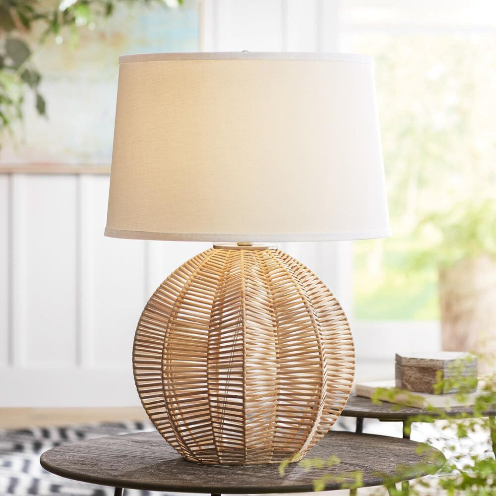 Pacific Coast Lighting Modern Farmhouse Boca Table Lamp in Natural, , large