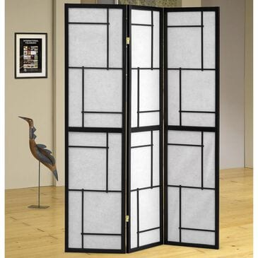 Pacific Landing 3 Panel Room Divider in Black, , large