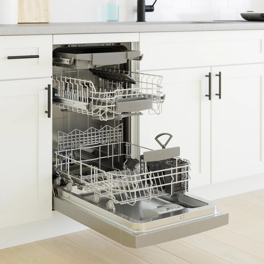 """Bosch Recessed Handle 800 Series 18"""" Recessed Handle Dishwasher in Stainless Steel, , large"""