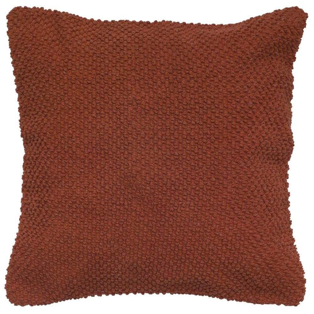 """Rizzy Home 20"""" x 20"""" Poly-Fill Pillow in Red/Orange, , large"""