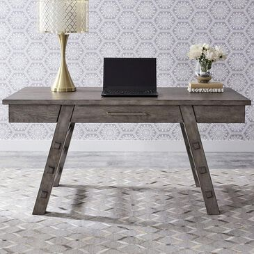 Belle Furnishings Modern Farmhouse Writing Desk in Dusty Charcoal, , large