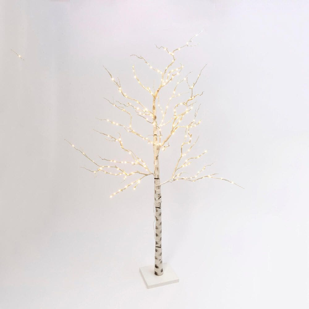 "The Gerson Company 82.67"" Birch Tree with 250 LED Lights in White, , large"
