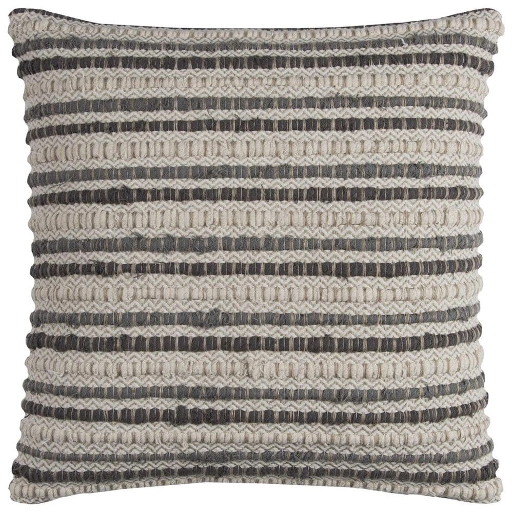 """Rizzy Home 20"""" x 20"""" Pillow Cover in Black and Tan, , large"""
