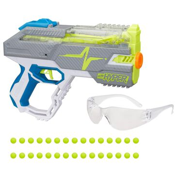 Nerf Hyper Rush 40 Pump-Action Blaster and 30 Hyper Rounds, , large
