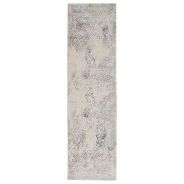 "Nourison Silky Textures SLY06 2'2"" x 7'6"" Ivory and Grey Runner, , large"