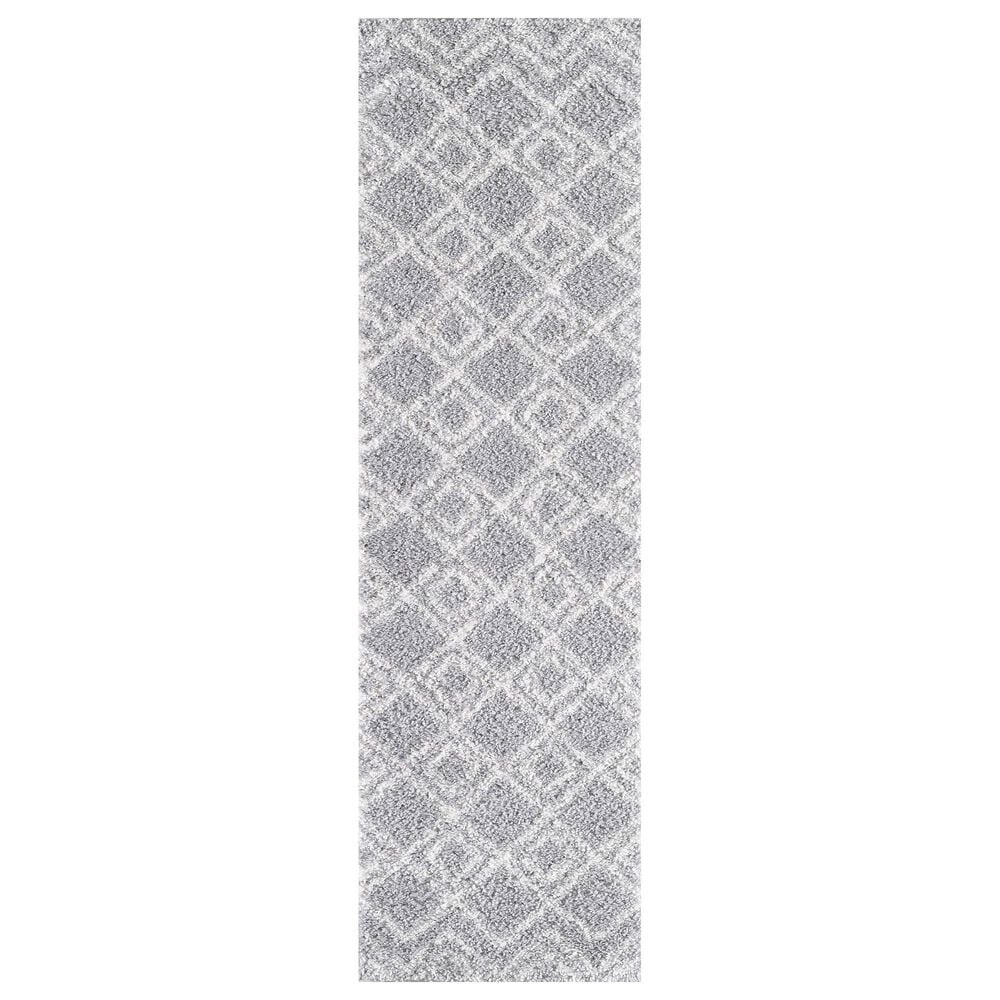 """Central Oriental Prince Light Greeri 8652.209 2'2"""" x 7'6"""" Cream and Grey Runner, , large"""