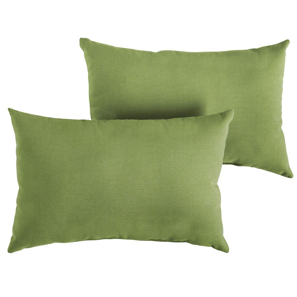"""Sorra Home Sunbrella 13"""" x 20"""" Pillow in Spectrum Cilantro (Set of 2), , large"""