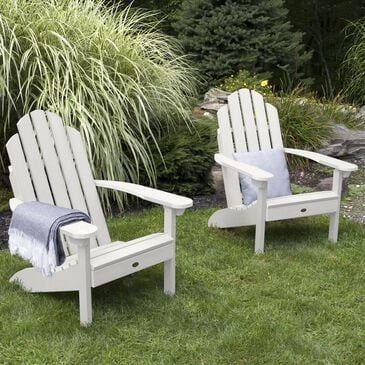 Highwood USA Classic Westport Adirondack Chair in White (Set of 2), , large
