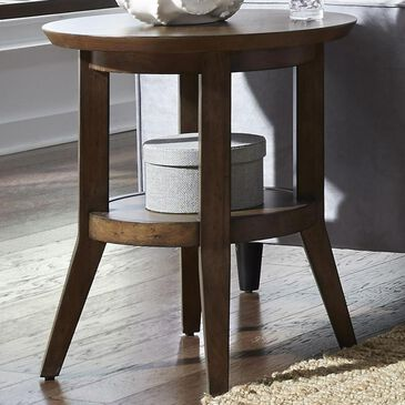 Belle Furnishings Ventura Boulevards Round End Table in Bronze Spice, , large