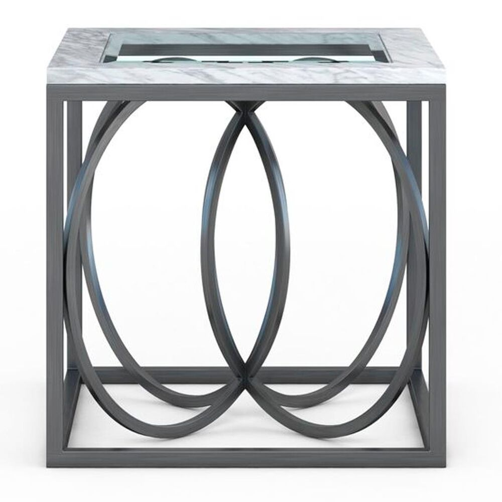 Vantage Elliptical End Table in Brushed Nickel, , large
