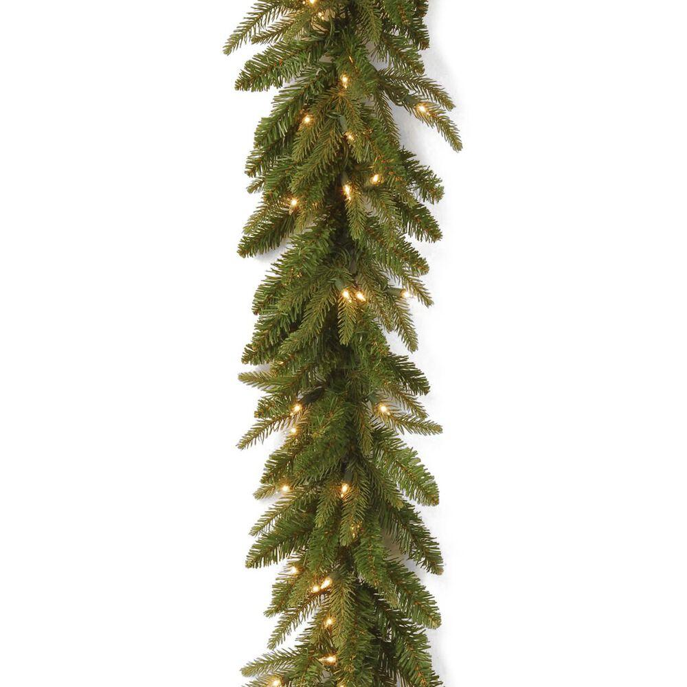 "National Tree 9"" Frasier Grande Garland with White Lights, , large"