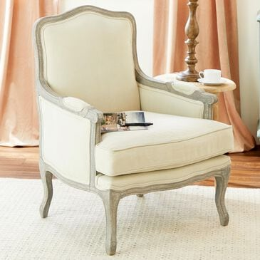 Maple and Jade Arm Chair in Cream, , large