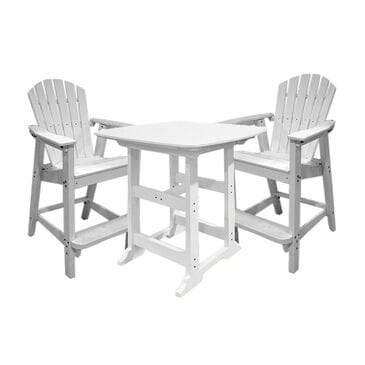 Oceanside 3-Piece Pub Set in White, , large
