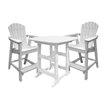 Oceanside 3-Piece Pub Set in White, , large