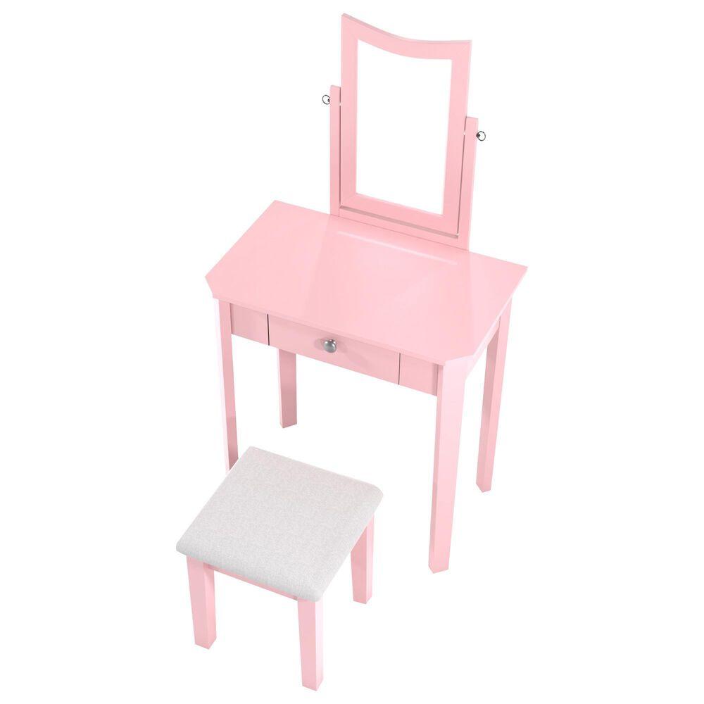 Furniture of America Osborne 3 Piece Vanity Set in Pink, , large