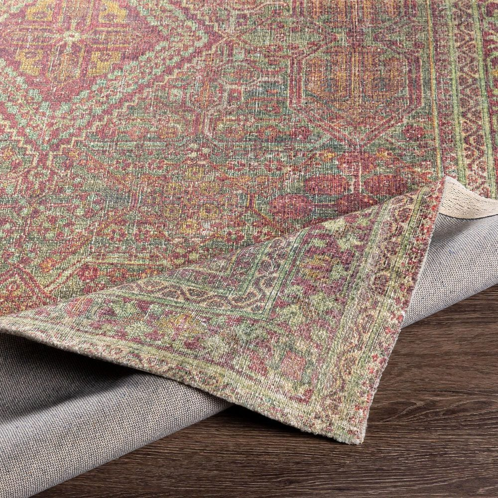 """Surya Unique UNQ-2306 5' x 7'6"""" Olive, Rust and Wheat Area Rug, , large"""