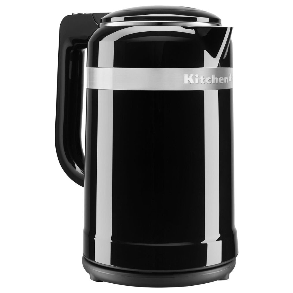 KitchenAid 1.5 Liter Electric Kettle with Dual-Wall Insulation in Onyx Black, , large