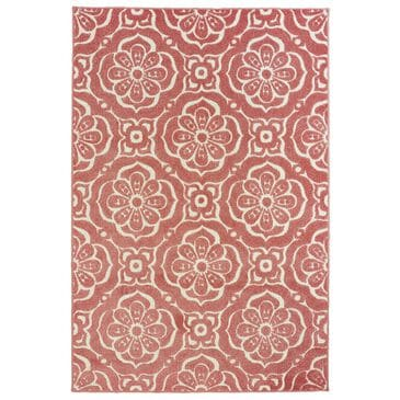 "Oriental Weavers Barbados 539O4 6'7"" x 9'6"" Pink and Ivory Area Rug, , large"