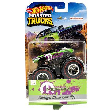 Hot Wheels Monster Trucks Mopar Dodge Charger R/T Diecast Car, , large