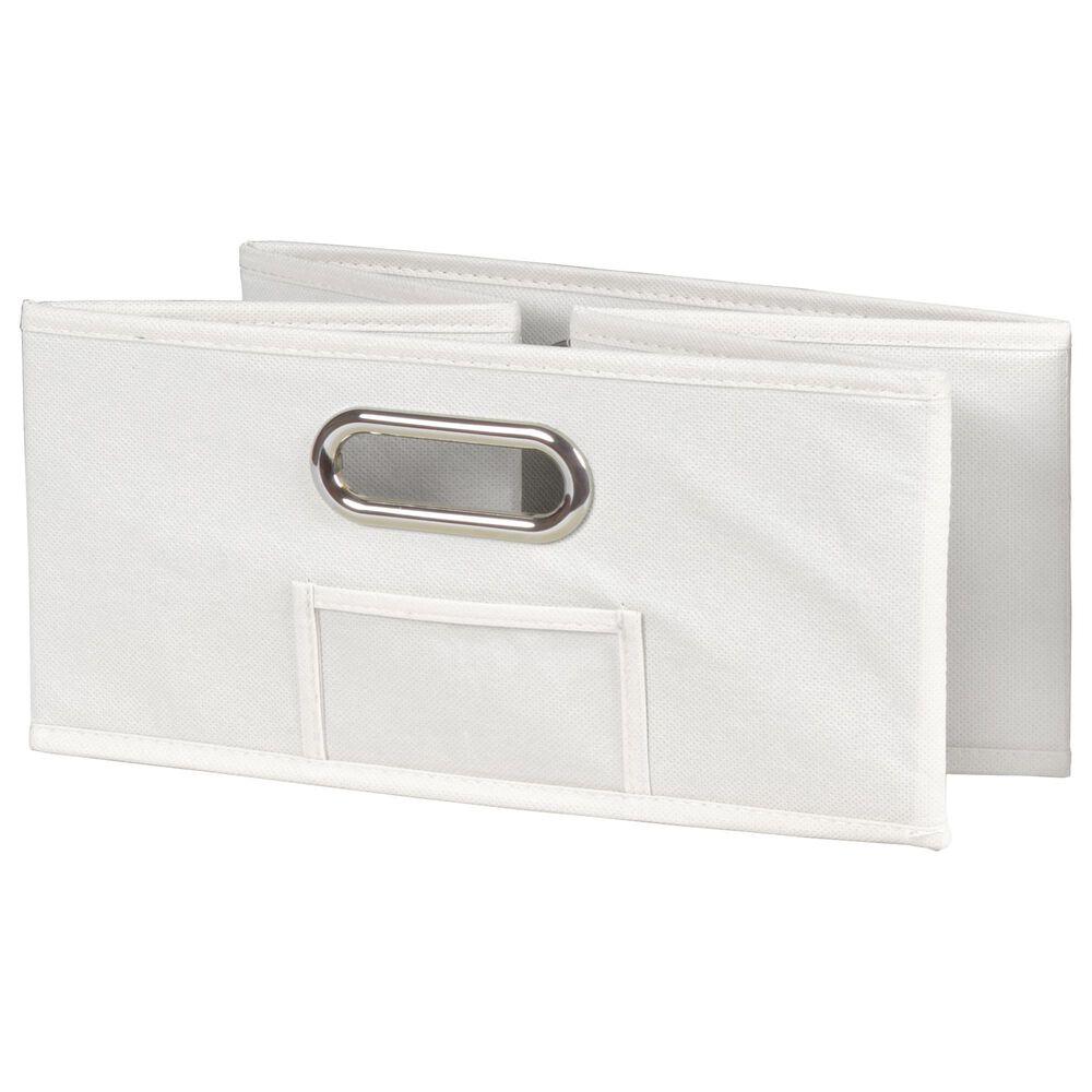 """Regency Global Sourcing Flip Flop 34"""" Folding Bookcase with Bins in Mocha Walnut/White, , large"""