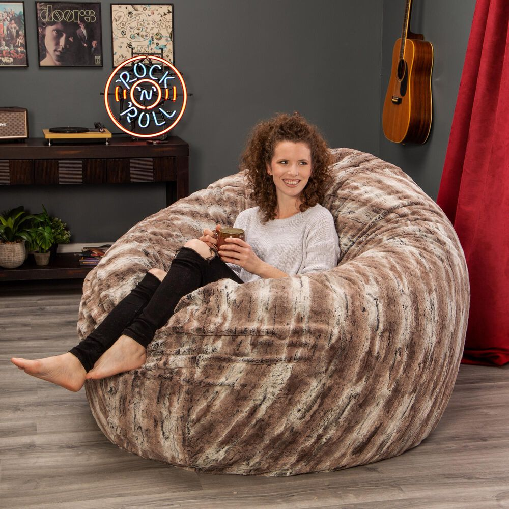 Jaxx Sacks Cocoon 6' Large Bean Bag Chair in Mountain, , large