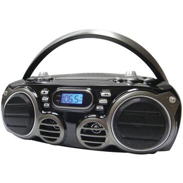 Sylvania Bluetooth Portable CD Radio Boom Box with AM/FM Radio, , large