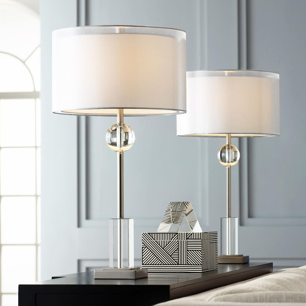 Pacific Coast Lighting Vincent Table Lamp in Brushed Nickel and Brushed Steel - Set of 2, , large