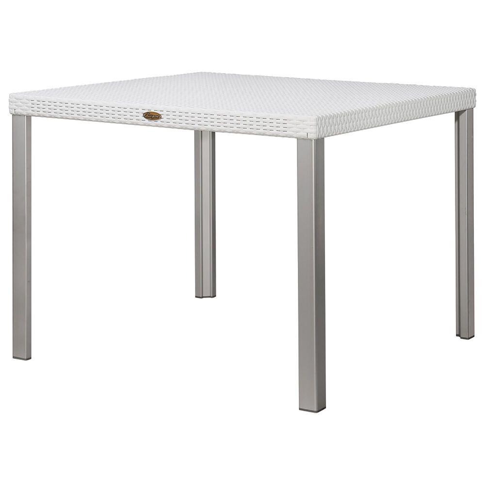 Lagoon Furniture Oslo Rattan Dining Table in White, , large