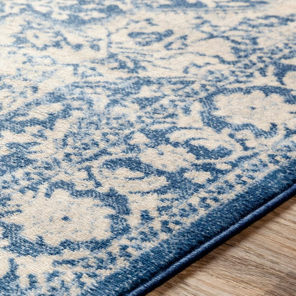 Surya Monaco MOC-2316 2' x 3' Bright Blue, Navy and Cream Scatter Rug, , large