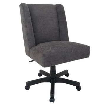 Global Seating Fabric Accent Task Chair in Charcoal Gray, , large